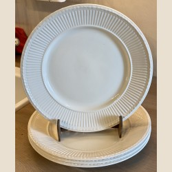 Dinerbord / groot bord - Wedgwood - Queen's Ware - EDME plain crème / roomkleurig