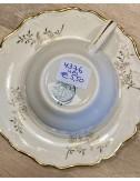 Schaaltje op vierkant voetje / bloemenschaaltje van kinderservies - poppenservies Petrus Regout - décor CATO
