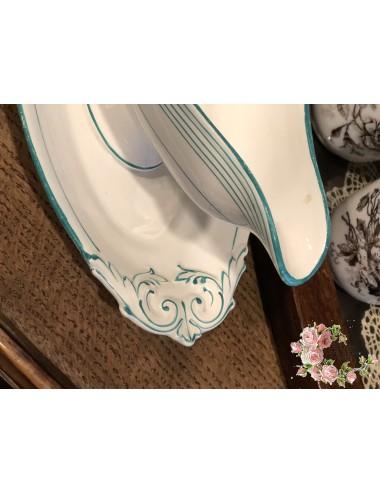 Ontbijtbordje – decor van een zilverkleurig randje (4 mm).