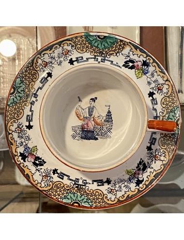 Dinerbord - Boch La Louvière - décor NEVADA blauw