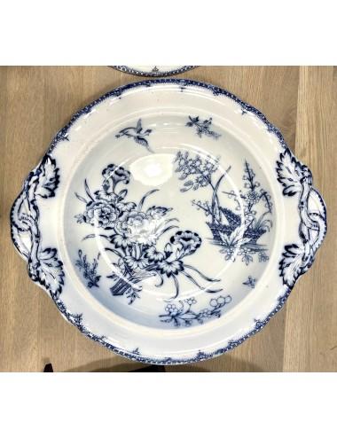 Dinerbord / dinner plate / middagstallrik - licht gegolfde rand - Rörstrand (Zweden / Sweden / Sverige) - décor druiven / grapes