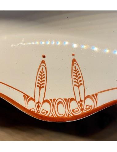 Dinerbord - Nimy - spuitdecor van groene bloemen en een groene rand