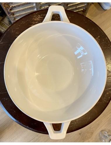Zeepbakje - Nimy - décor van donkerblauw spuitdecor van gestileerde bloemen