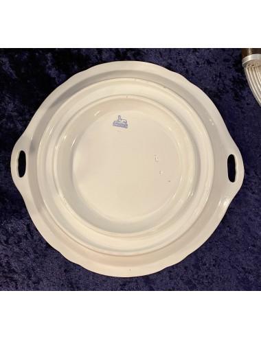 Lampetkan - AMC / A.M.C. (Wasmuel) - geheel wit, met medaillon met strik in reliëf aangebracht