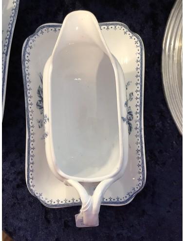 Dessertset - 7-delig - bestaande uit een grote schaal en 6 kleine schaaltjes - Johnson Bros England - décor INDIAN TREE