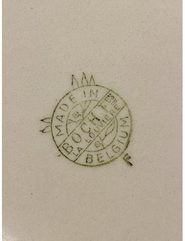 Kommetje - William Smith (1830-1848) - décor van roze luster bloemetjes met zwart / wit en groen décor