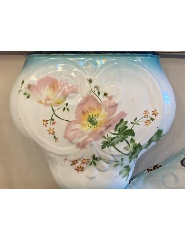 Schaal op lage voet - Sarreguémines - décor SYRA blauw