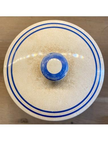 Schaal groter - ovaal - Sarreguémines - décor SYRA blauw