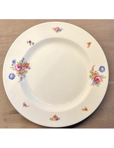 Dinerbord - U & C Sarreguémines - décor SAPHIR blauw