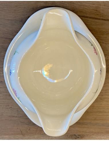 Ontbijtbordje / dessertbordje - Niderviller - spuitdecor / décor LONDRES helderblauw