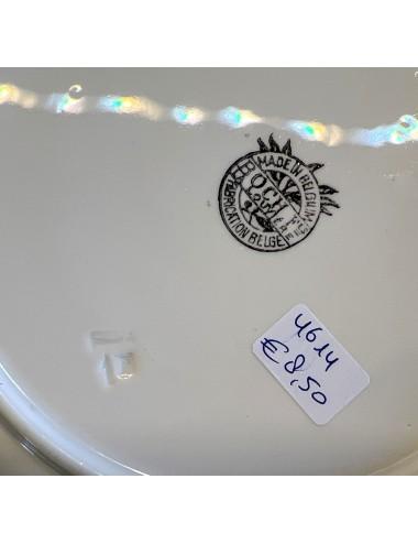 Lampetset - 5-delig - ongemerkt - onderglazuur spuitdecor uit de Art Deco periode