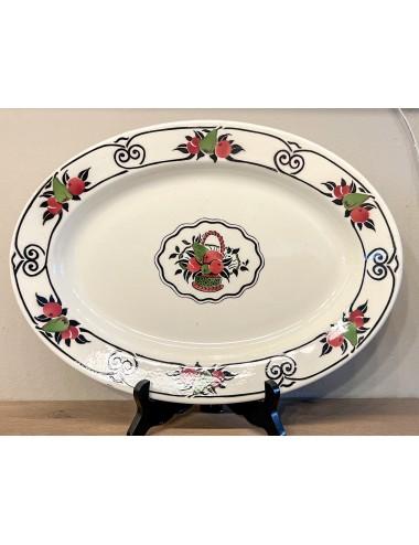 Bierkan – decor van handgeschilderde bloemen en met opschrift Bière mousseuse.