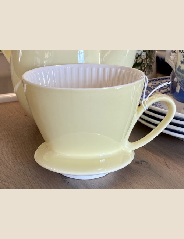 Koffiefilter - Royal Sphinx / P. Regout - hoort bij koffiepot model RIGA - pastelgeel